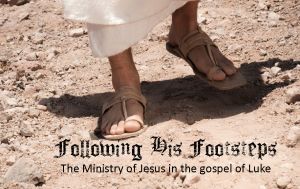 following his footsteps the ministry of Jesus in the gospel of Luke series logo